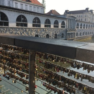 The Butcher's Bridge, lovers padlocks