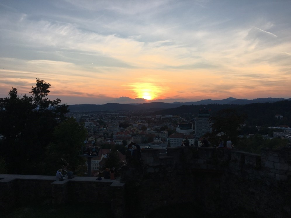 sunset from Ljubljana Castle